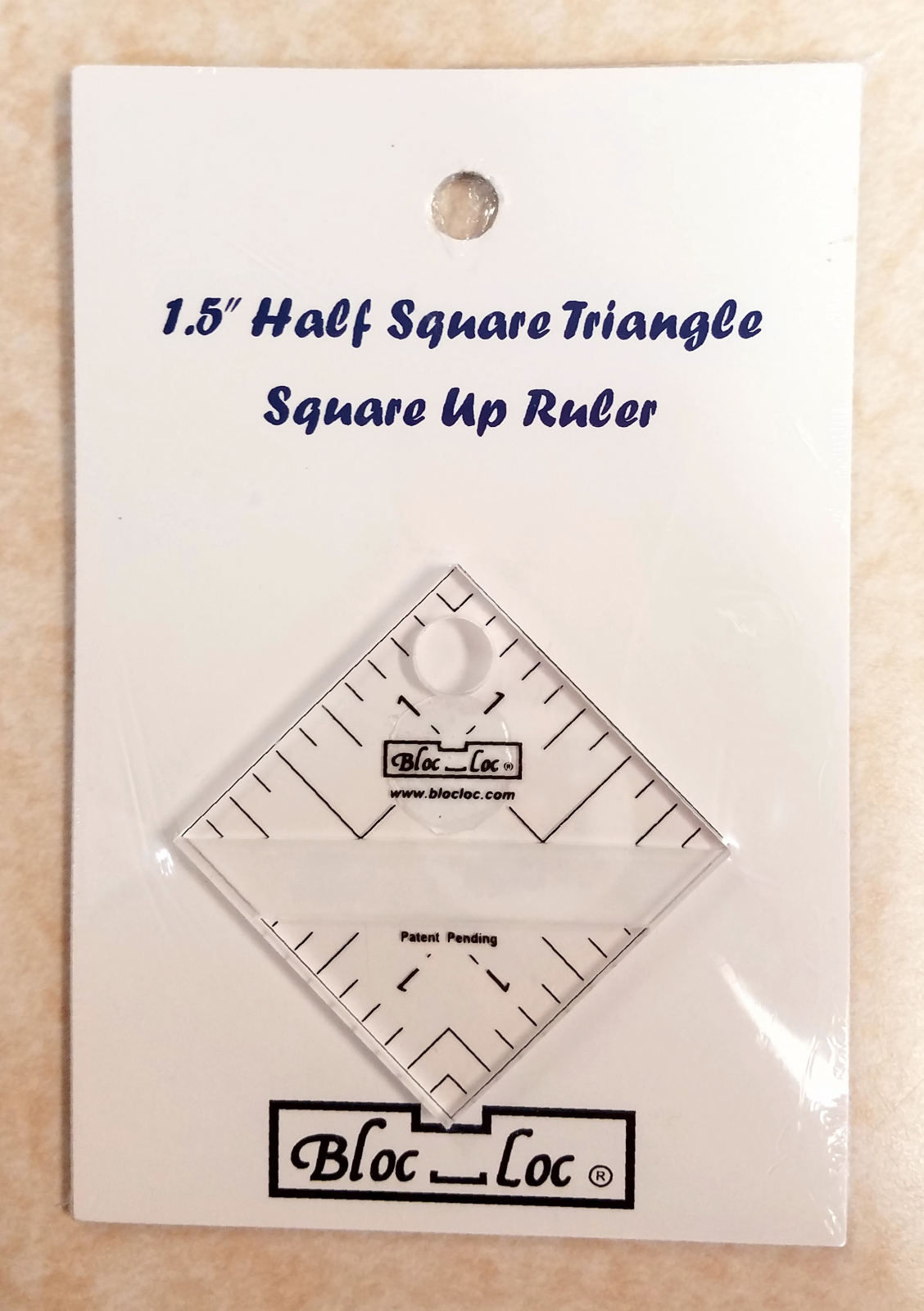 Bloc Loc 1.5 Half Square Triangle Ruler