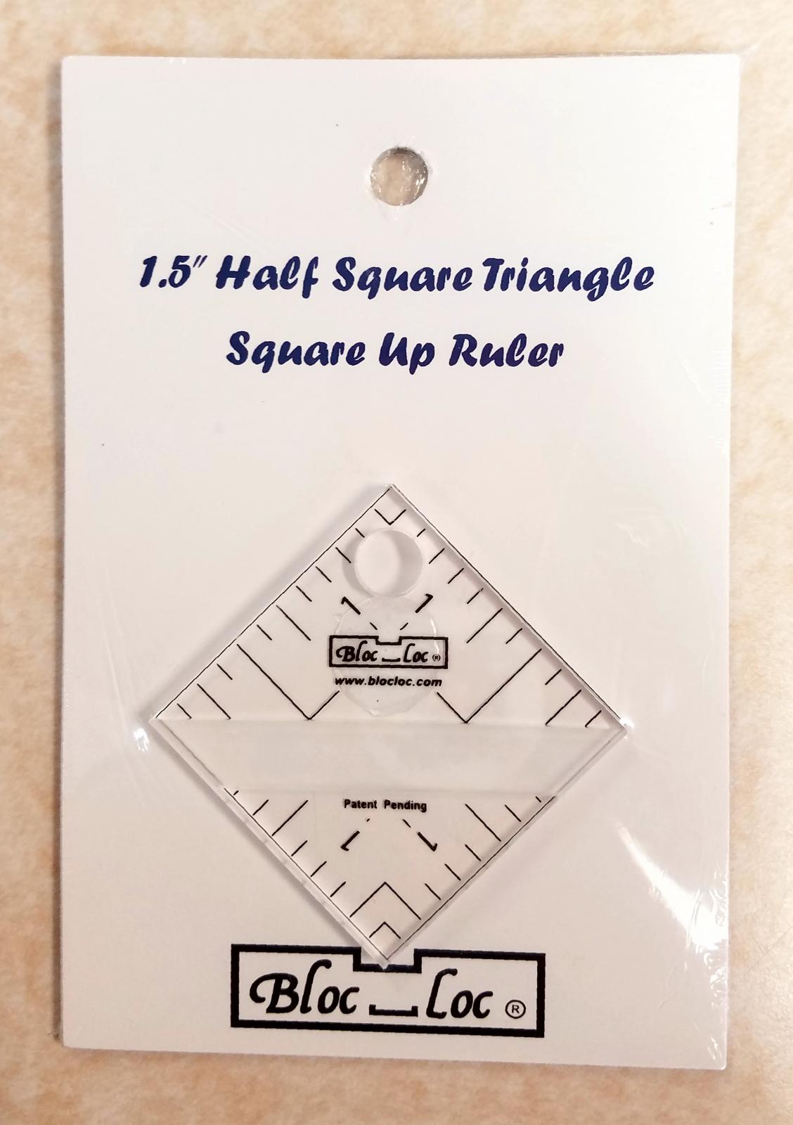 Bloc Loc 1.5 Half Square Triangle Ruler