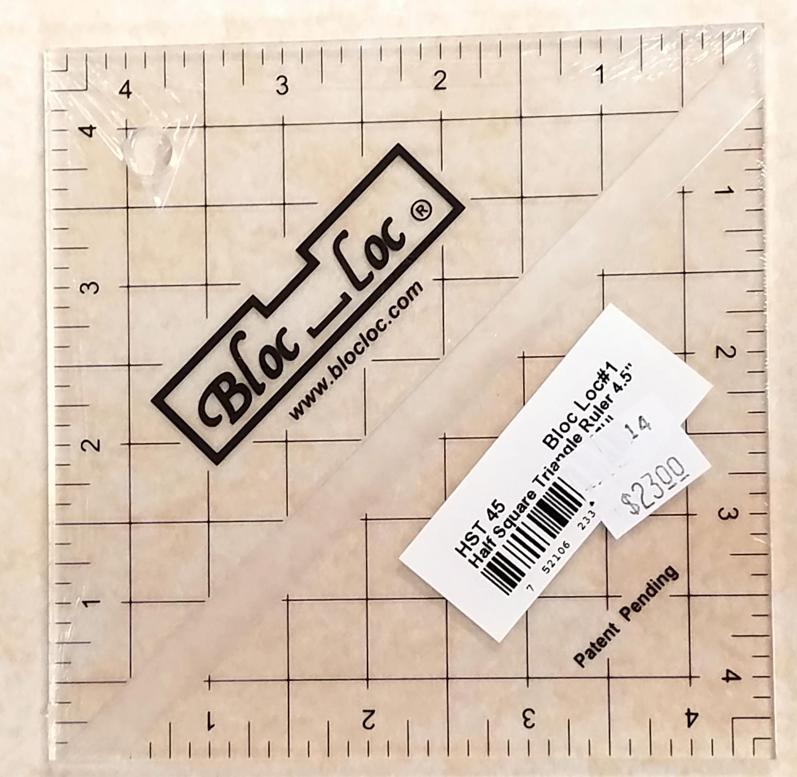 Bloc Loc 4.5 Half Square Triangle Ruler