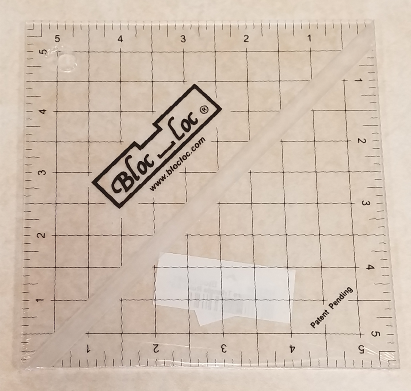 Bloc Loc 5.5 Half Square Triangle Ruler