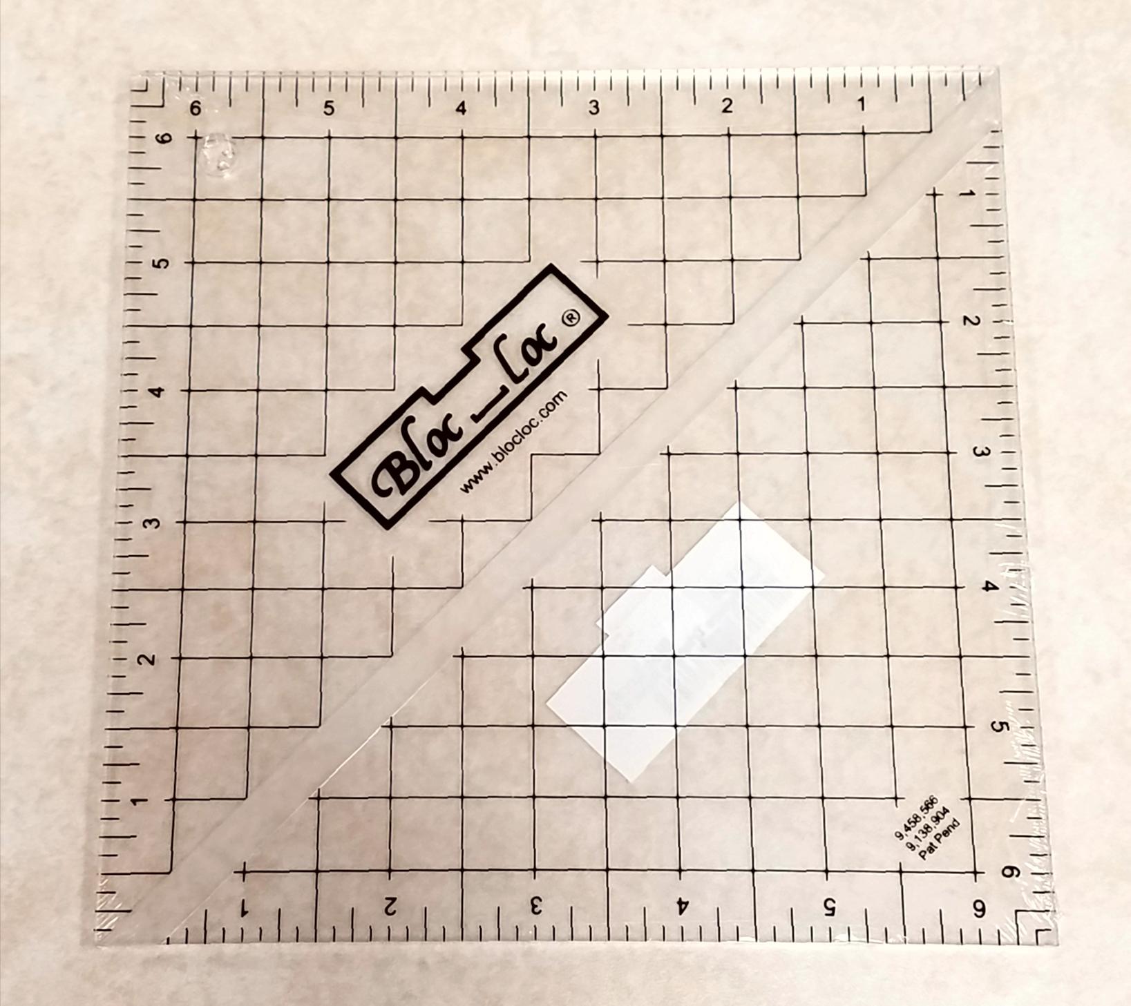 Bloc Loc 6.5 Half Square Triangle Ruler