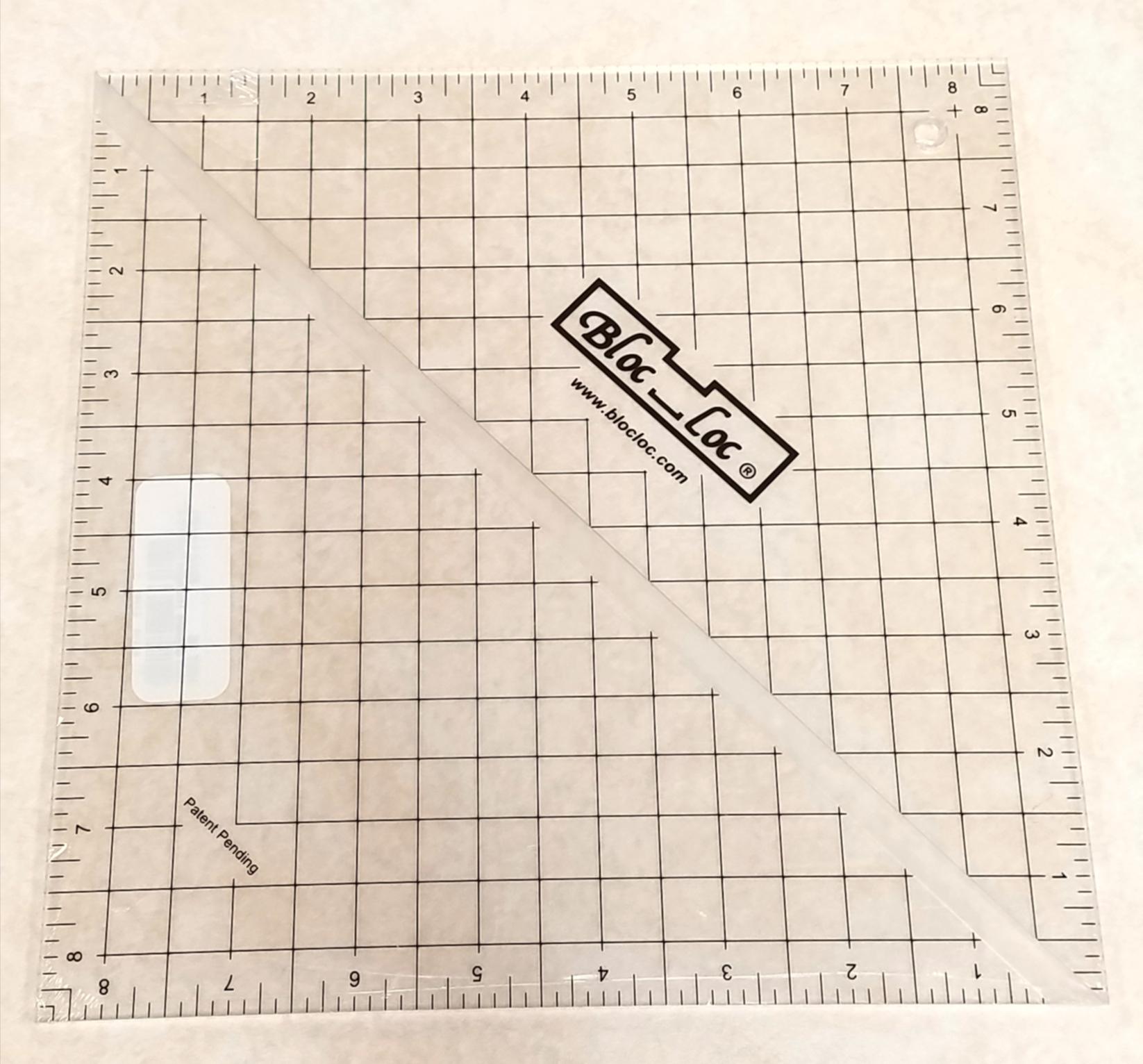 Bloc Loc 8.5 Half Square Triangle Ruler