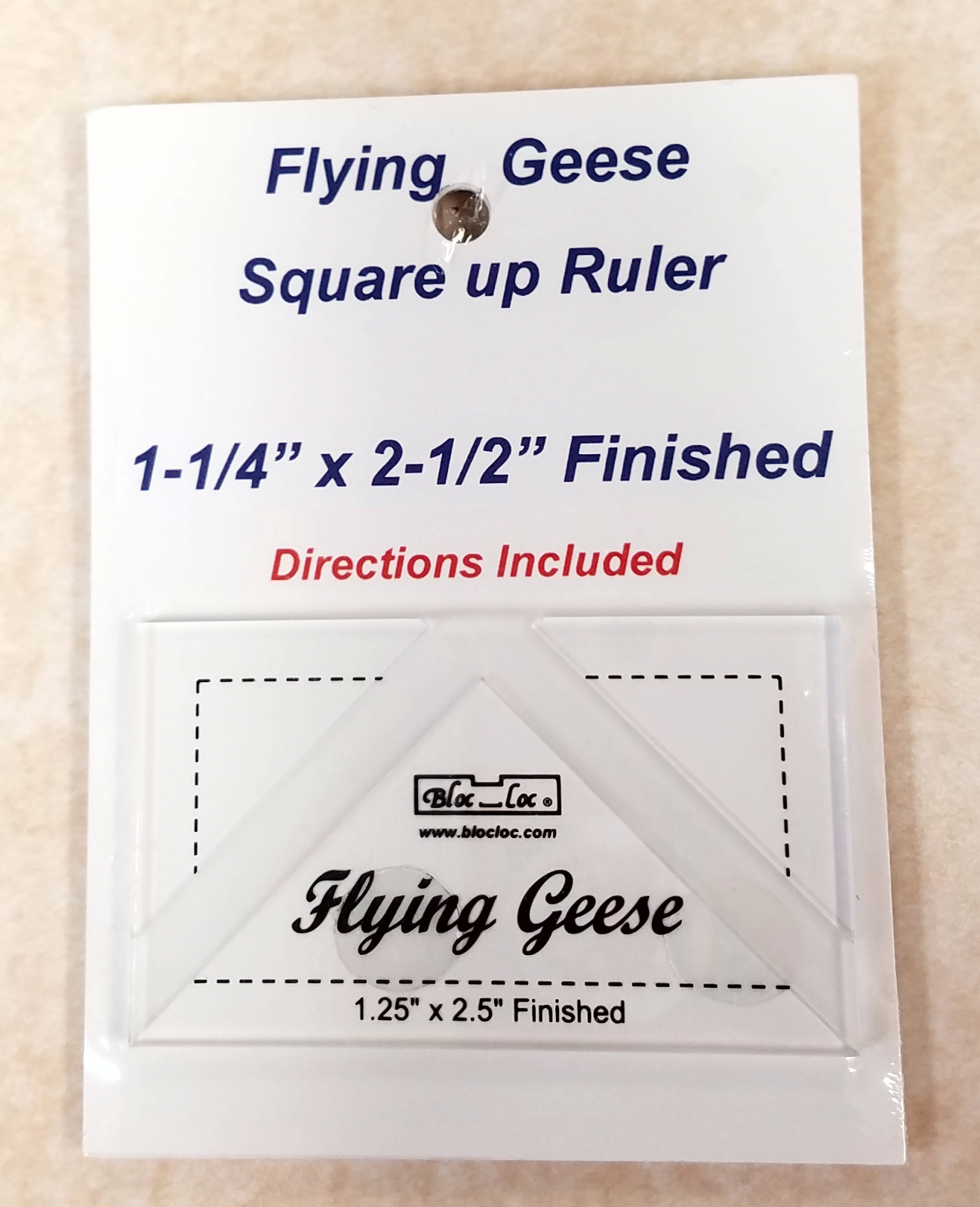 Bloc Loc Flying Geese Square up Ruler 1-1/4 x 2-1/2