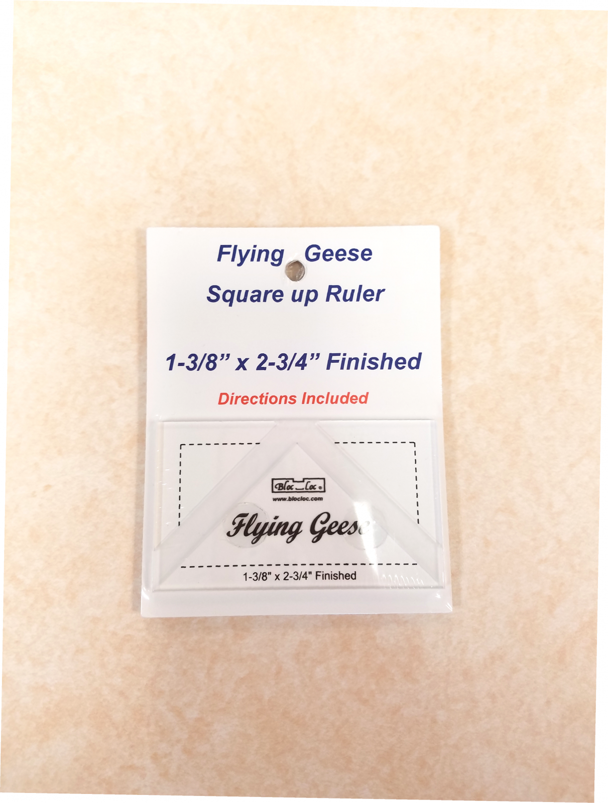 Bloc Loc Flying Geese Square Up Ruler 1-3/8 x 2-3/4