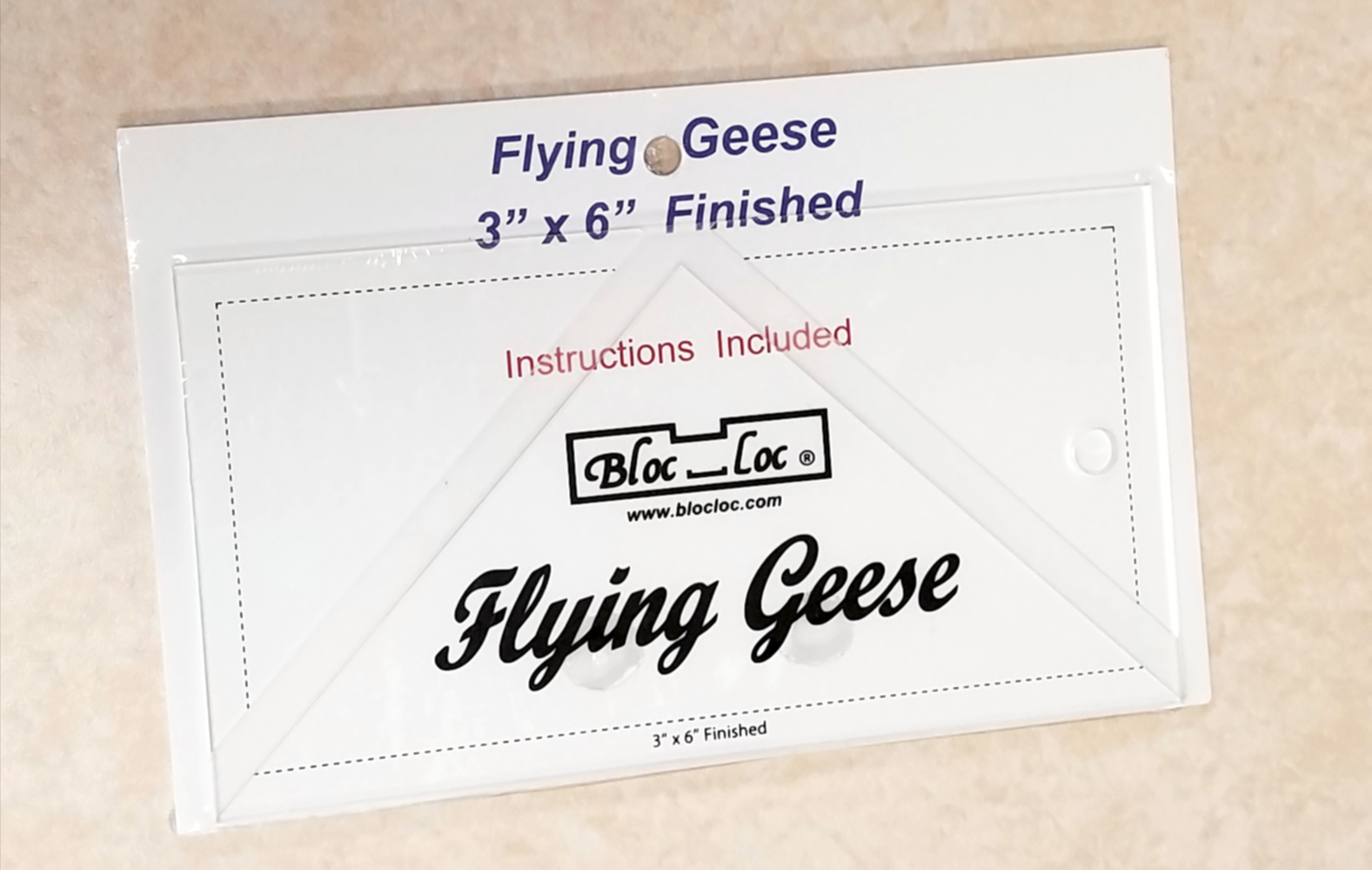 Bloc Loc Flying Geese Square Up Ruler 3 x 6