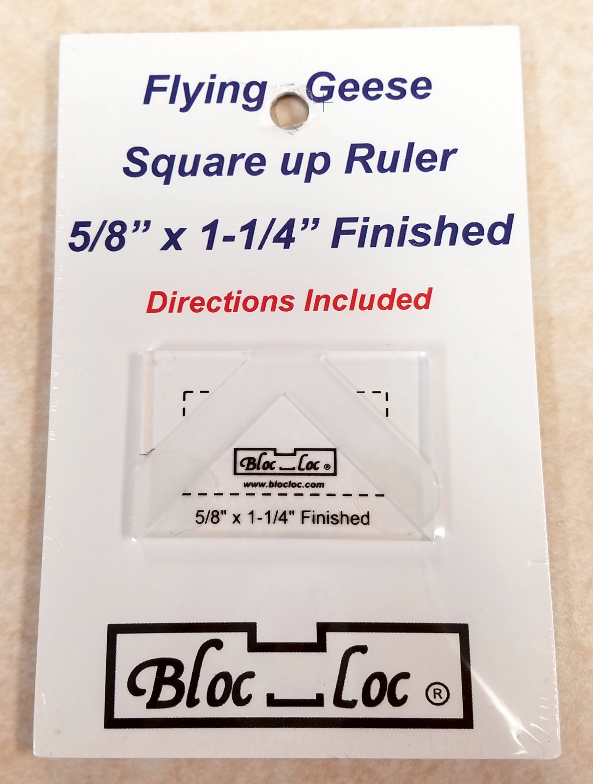 Bloc Loc Flying Geese Square Up Ruler 5/8 x 1-1/4