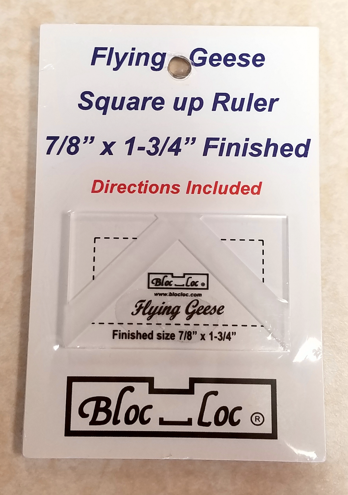Bloc Loc Flying Geese Square Up Ruler 7/8 x 1-3/4