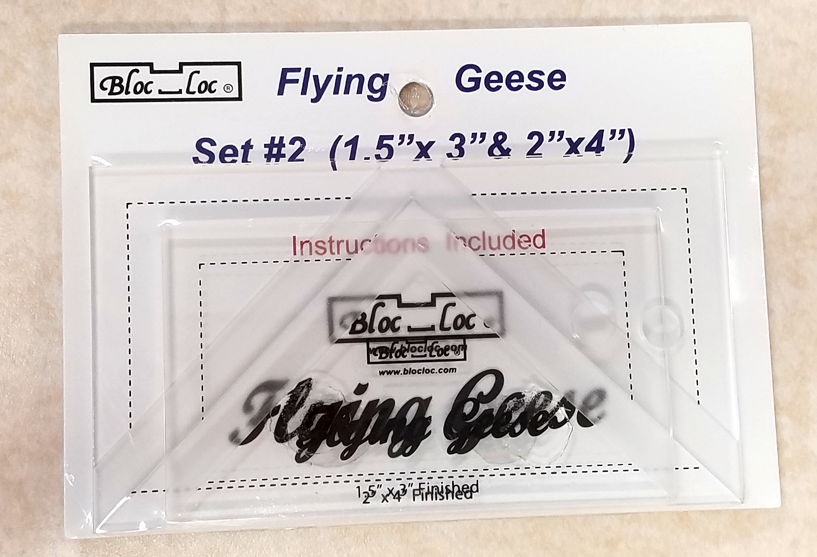 Bloc Loc Flying Geese Square Up Ruler Set #2