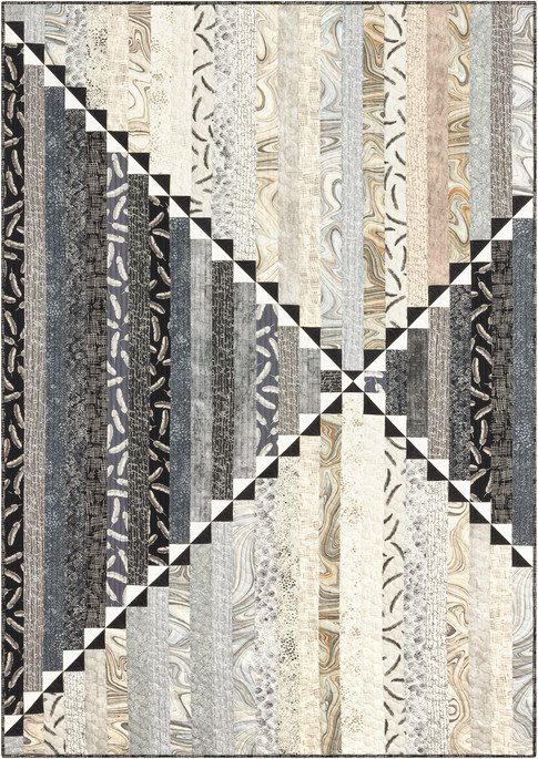 Chalk and Charcoal Quilt Kit