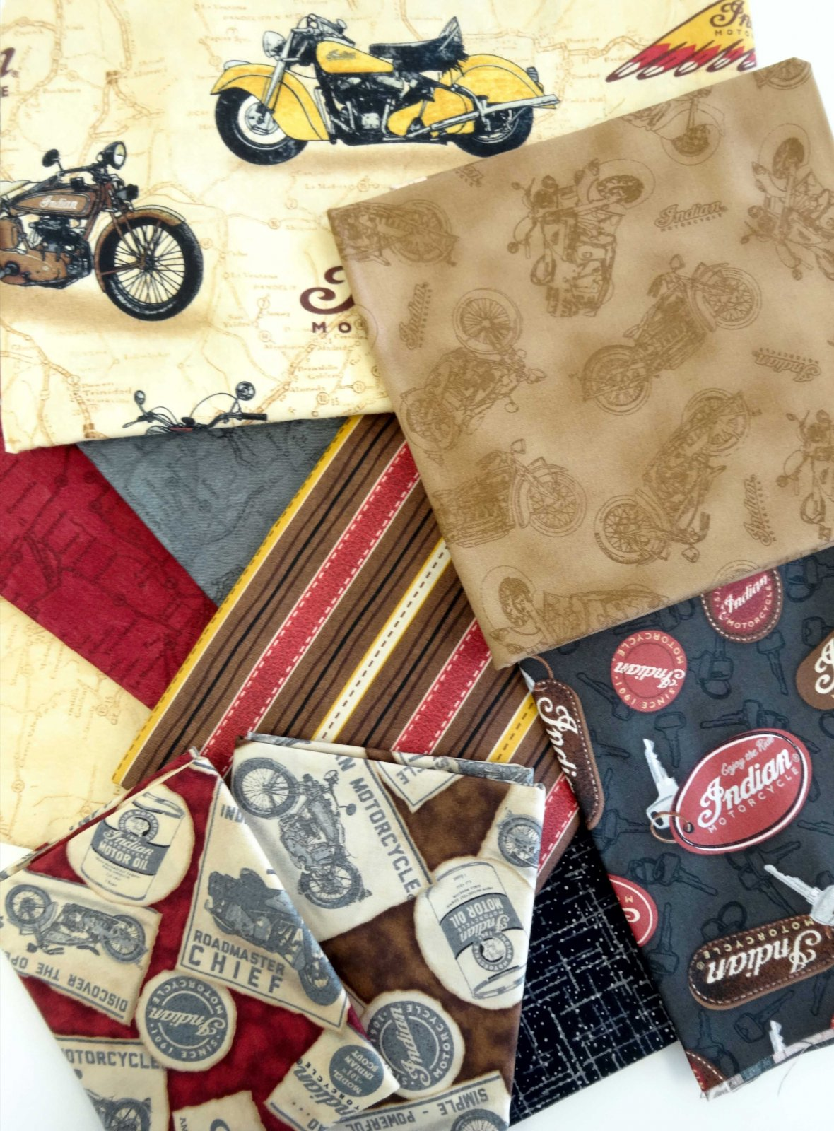 Classic Indian Motorcycle Quilt Kit : motorcycle quilting fabric - Adamdwight.com