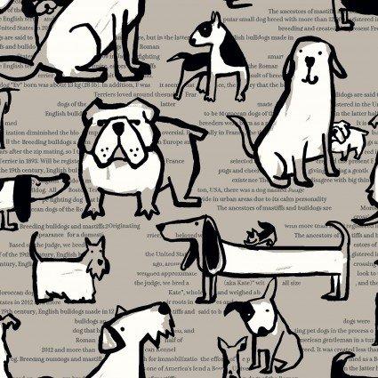 Kokka, Dogs, Canvas, AP11702