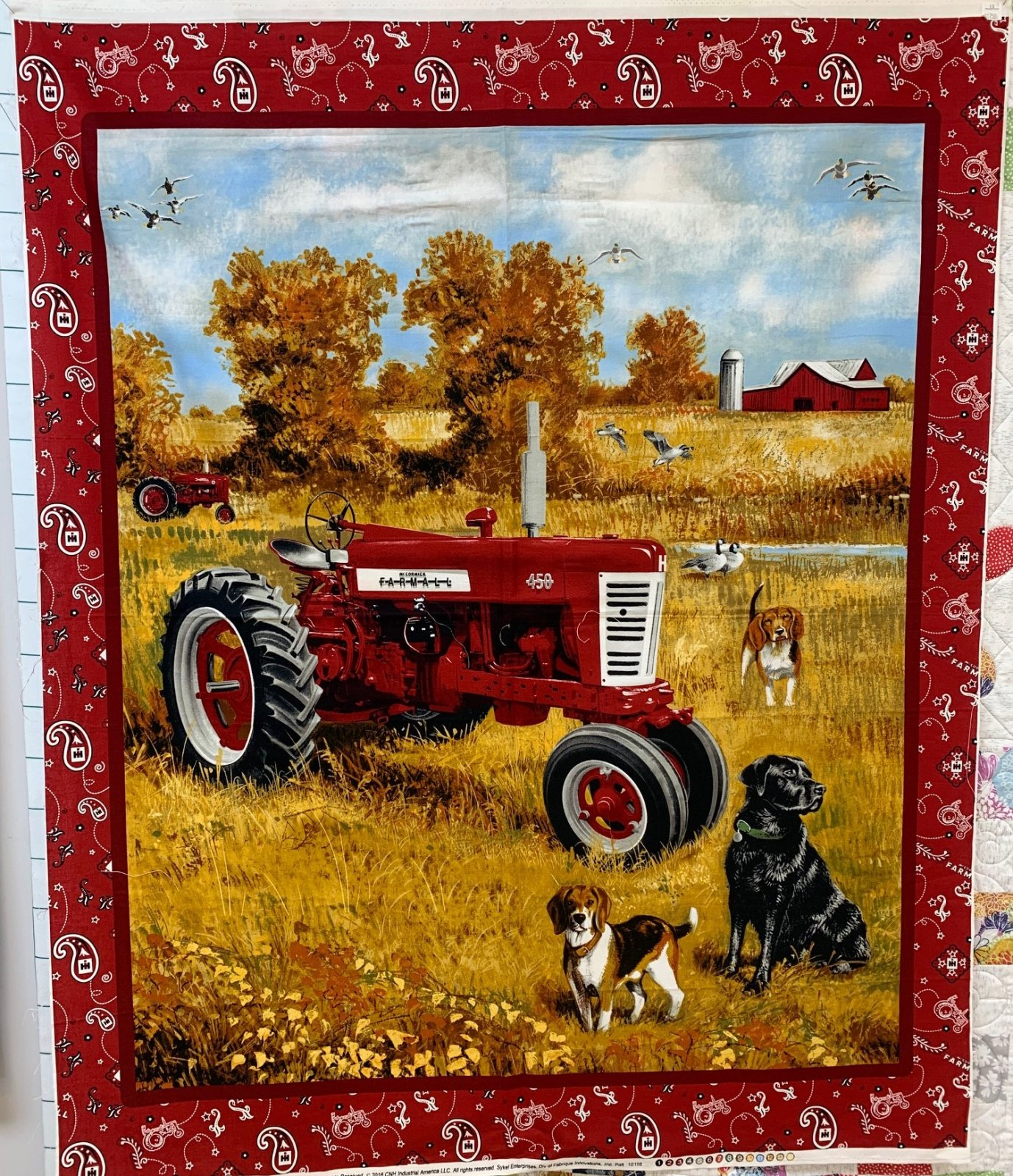 Farmall Autumn with Hunting Dogs