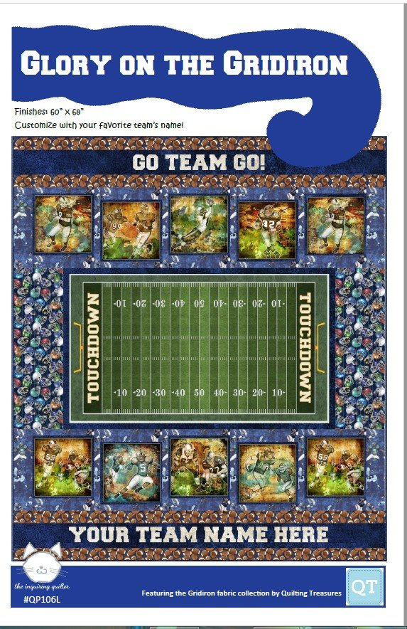 Glory On The Gridiron Quilt Kit