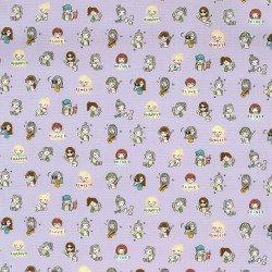 Kokka, Petit Amis, Small Girl, Lavender, Cotton Oxford, KOKLOA-59030-2-C