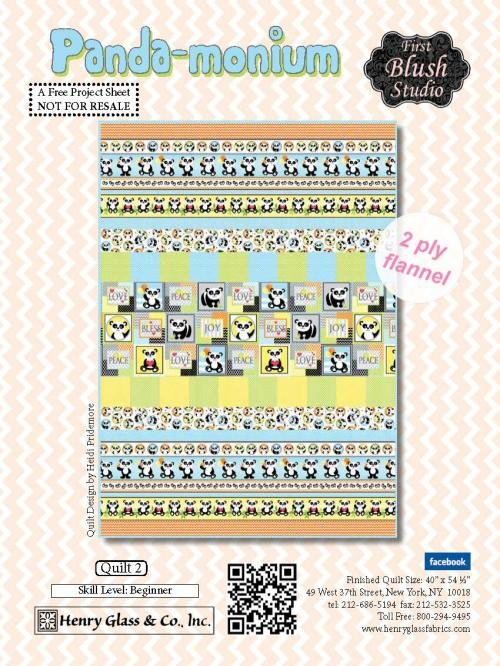 Panda-monium Quilt Kit