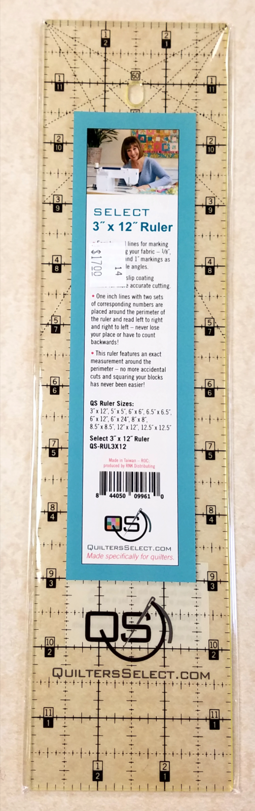 Quilter's Select Ruler 3 x 12