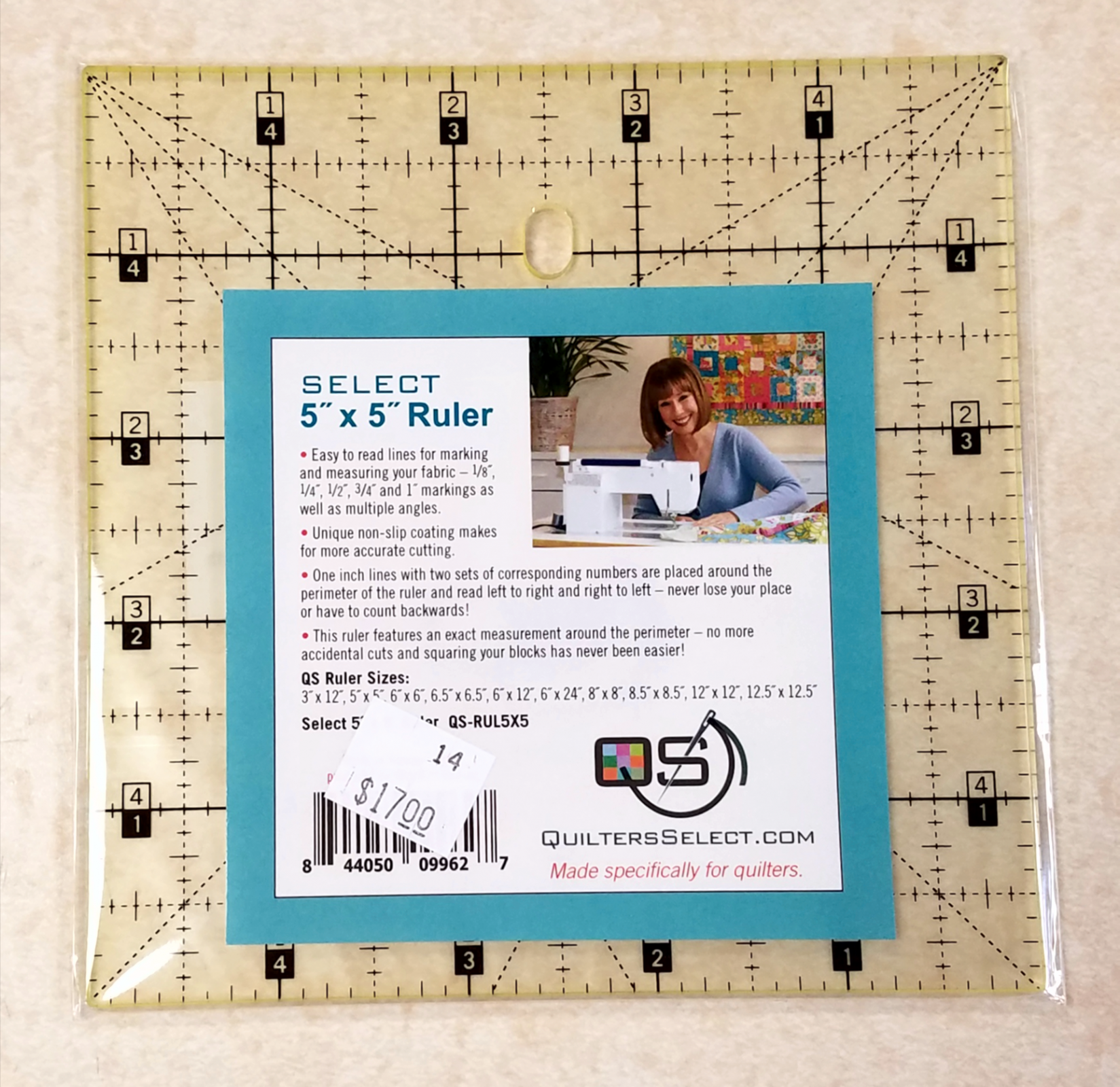 Quilter's Select Ruler 5 x 5