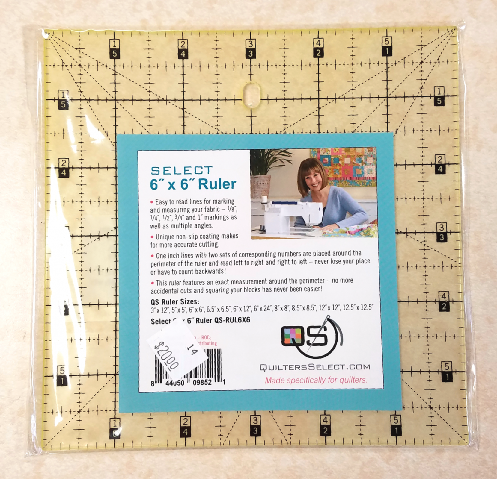 Quilter's Select Ruler 6 x 6