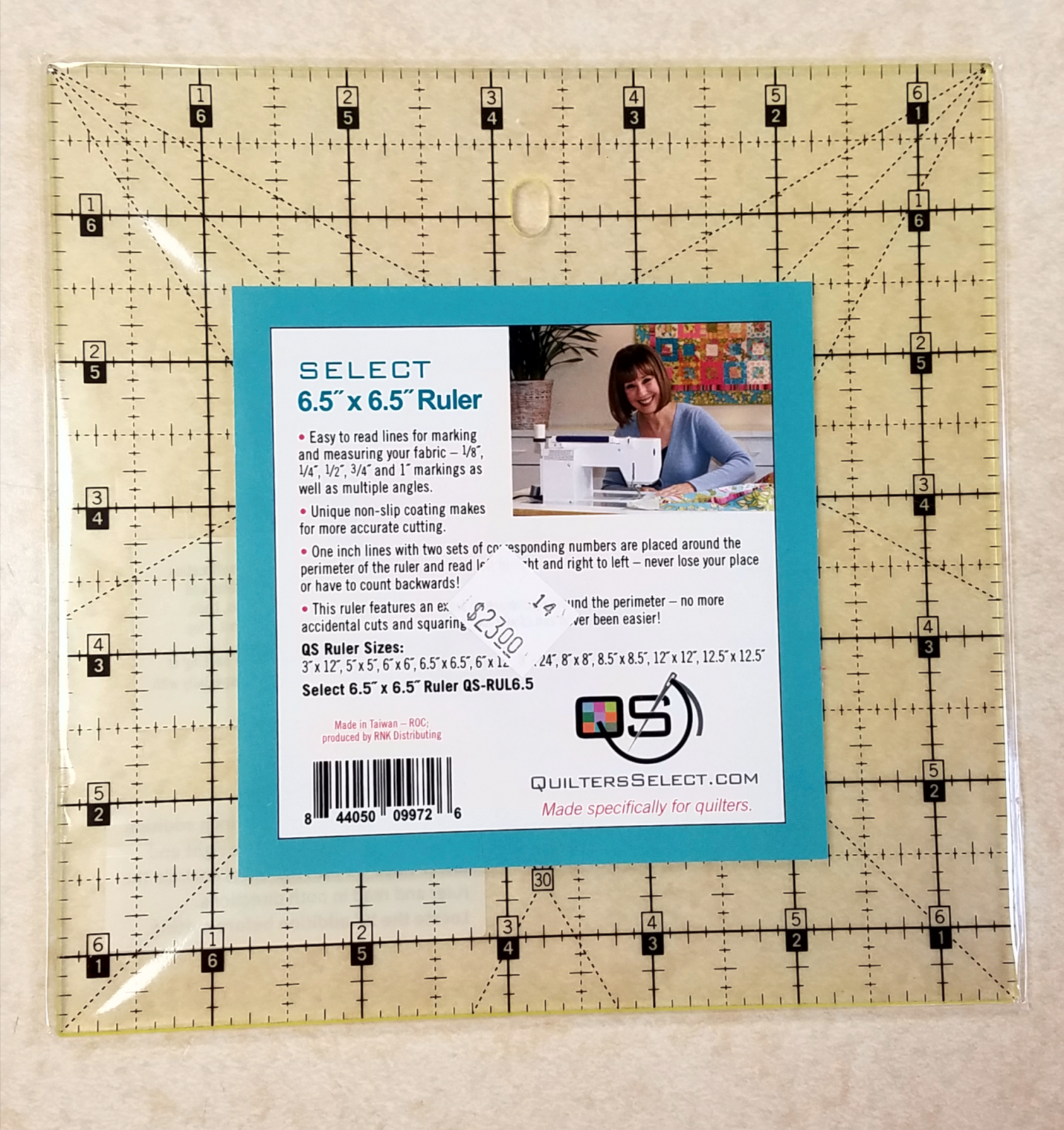 Quilter's Select Ruler 6.5 x 6.5