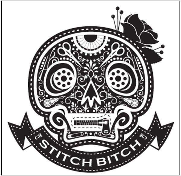 Stitch Bitch - White - Vinyl Window Decal