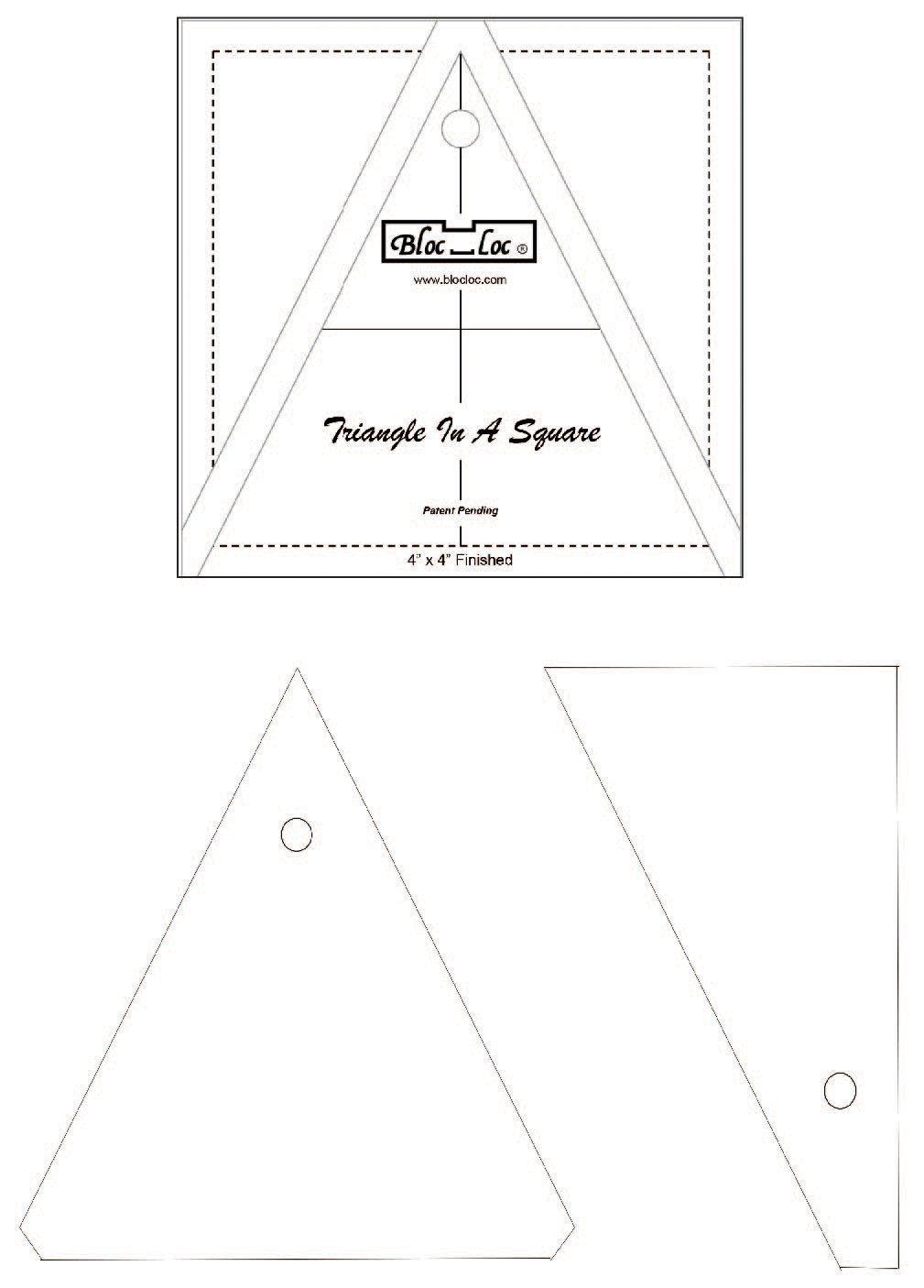 Bloc Loc Triangle in a Square 4 x 4