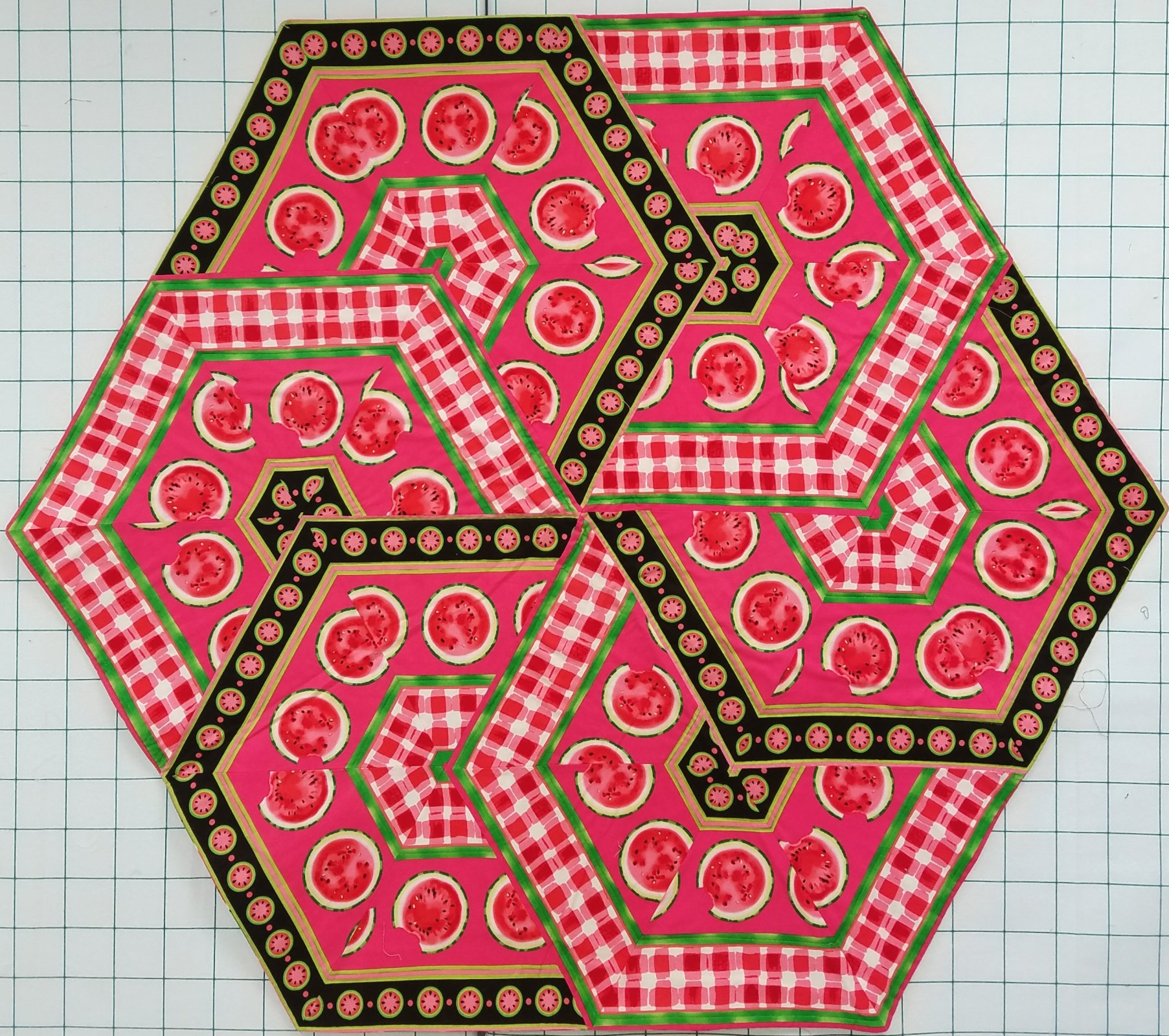 Watermelon Table Topper Finished