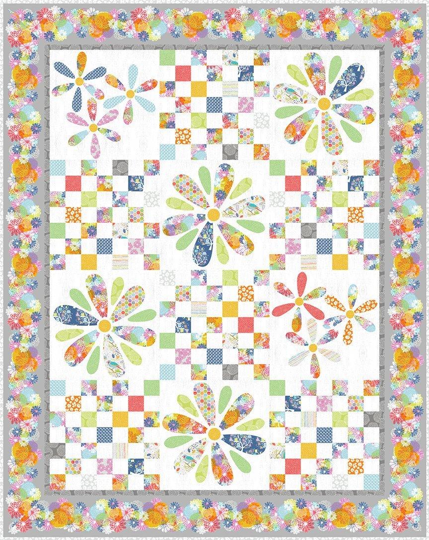 Doodle Blossoms Quilt Kit