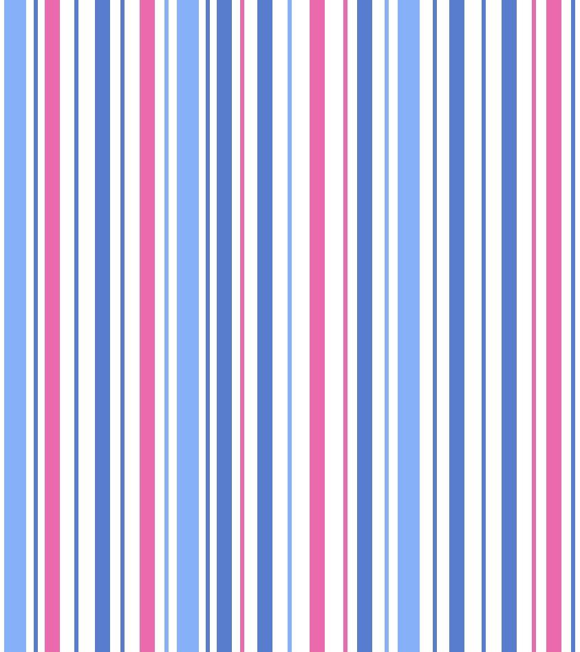Stripe Blue & Pink Vintage 1930's