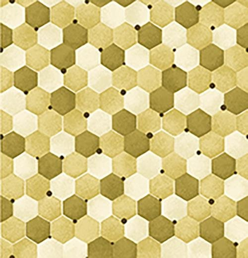 Tonal Honeycomb Gold Bee Kind