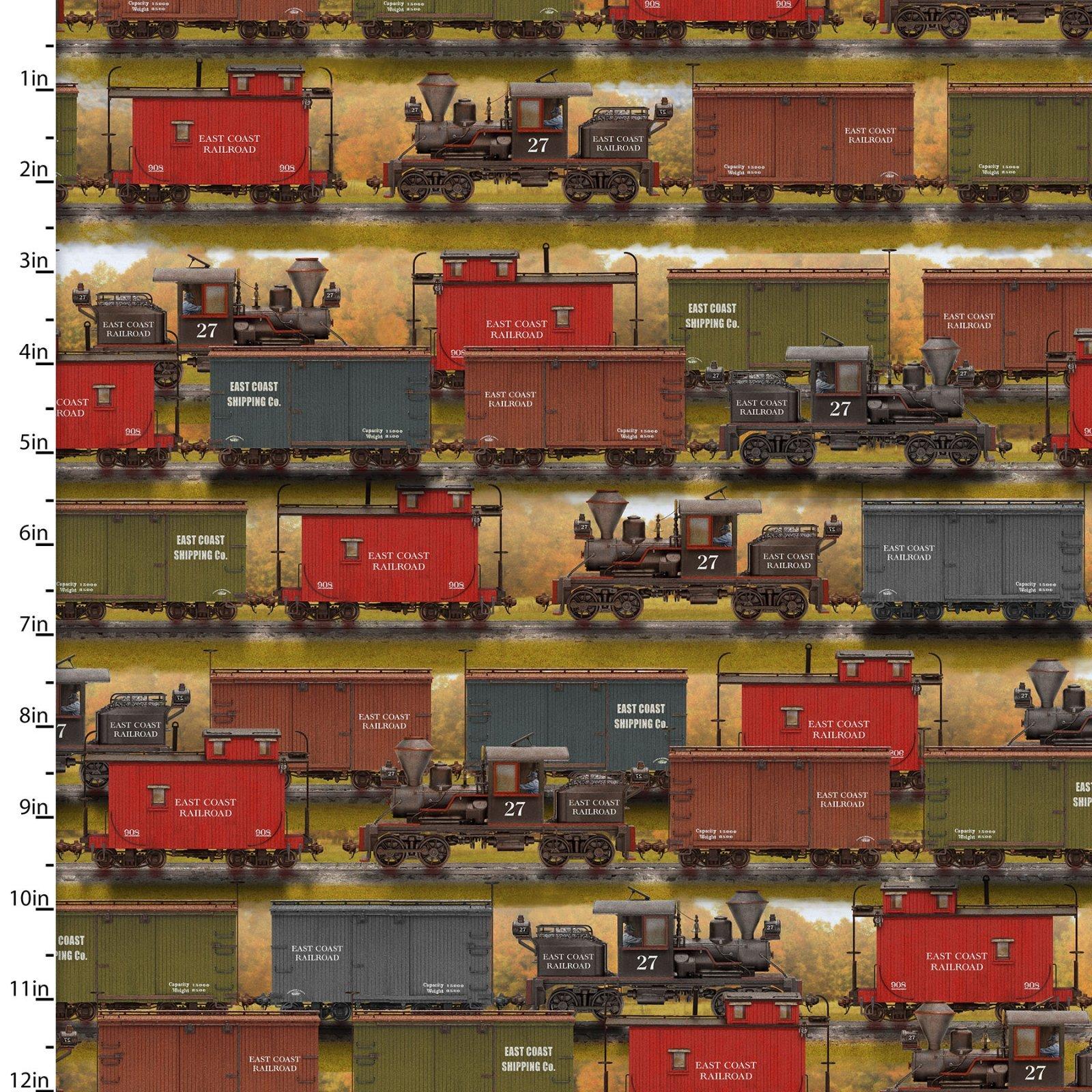 Train Yard Multi Digital Autumn Steam