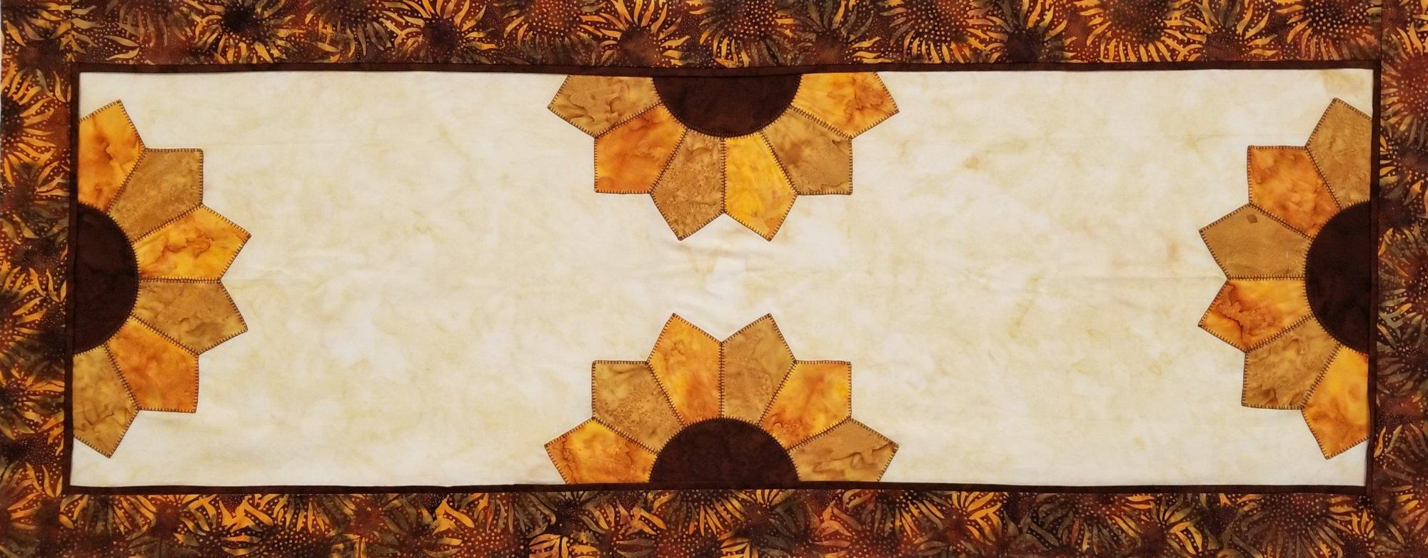 Sunflower Split Runner Fabric Kit 18x46