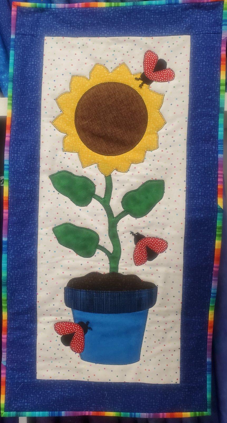 Sunflower Days of Fall Fabric Kit 14x28