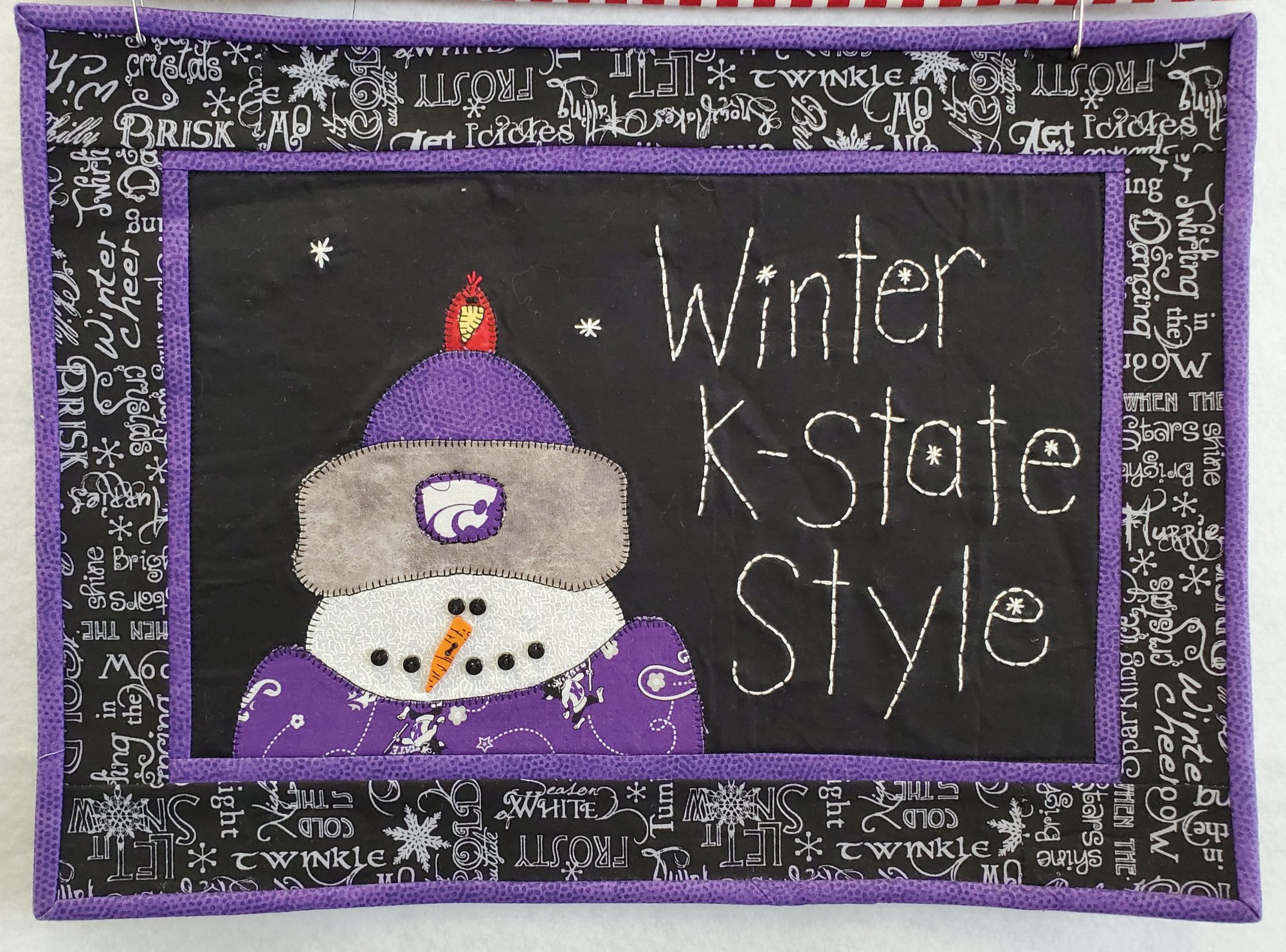 Winter K-State Style Fabric Kit 12.5 x 16.5 (Pattern Not Included)