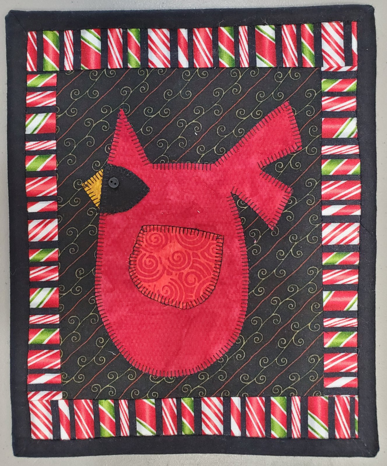 Winter Cardinal Fabric Kit 8.5 x 11 (Pattern Not Included)
