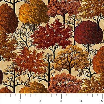 Autumn Village Trees