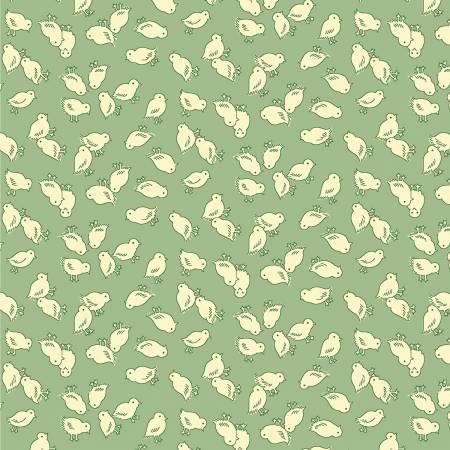 Nana Mae 2 Green Chicks Toss 1930's