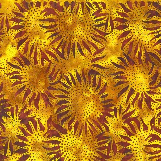 Gold Ochre Sunflower Batik