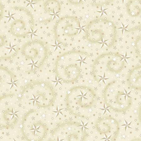 Cream Stars w/Swirl 108in Wide Back