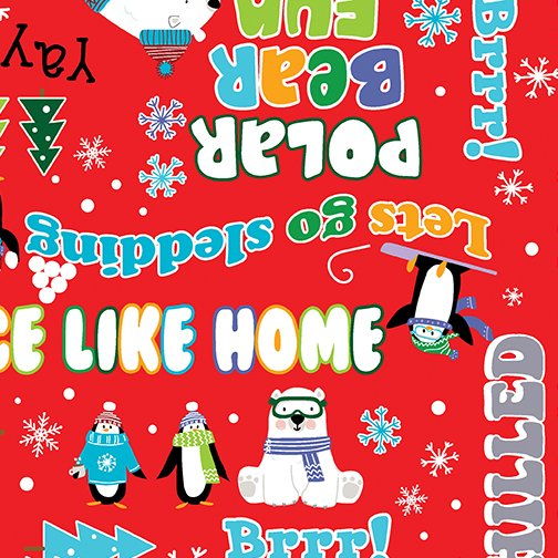 Snow Fun Words Red Snow Place Like Home