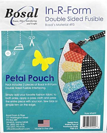In R Form for Petal Pouch 2-pieces Double Sided Fusible