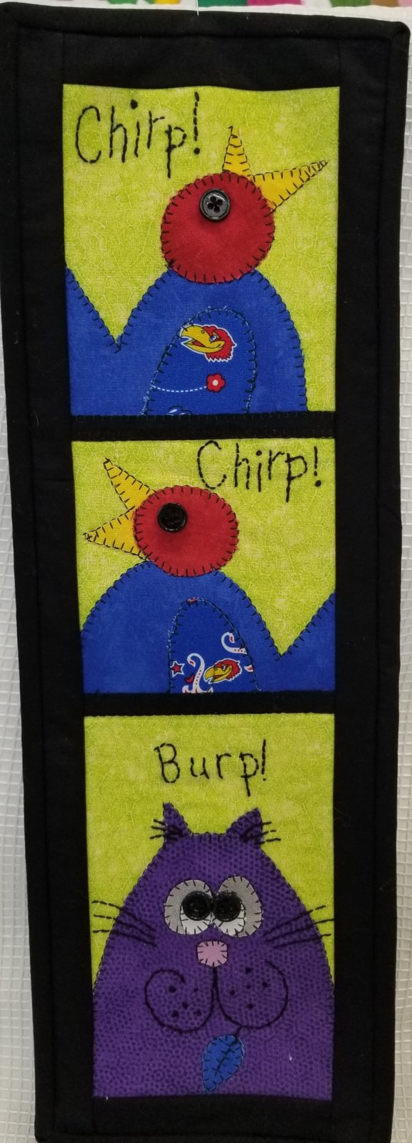 Chirp Chirp Burp Fabric Kit 6 x 19 (Pattern Not  Included)