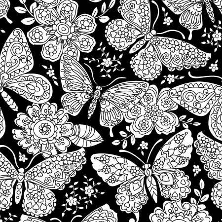 Black Color Me Papillon Paisley