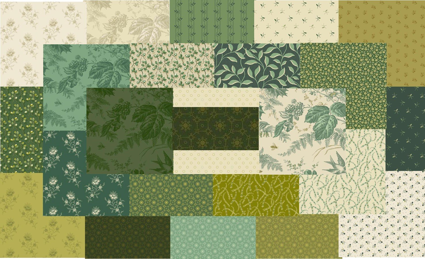 Evergreen by Edyta Sitar 42pcs-10x10 Layer Cake