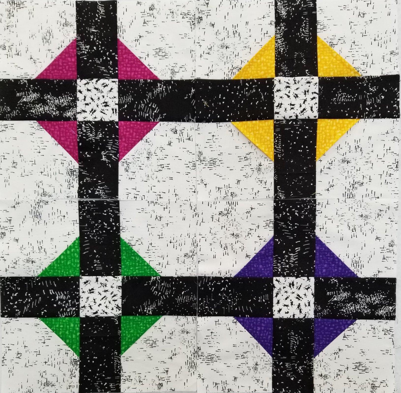 2021 Quilter's Trek Row - POP of color