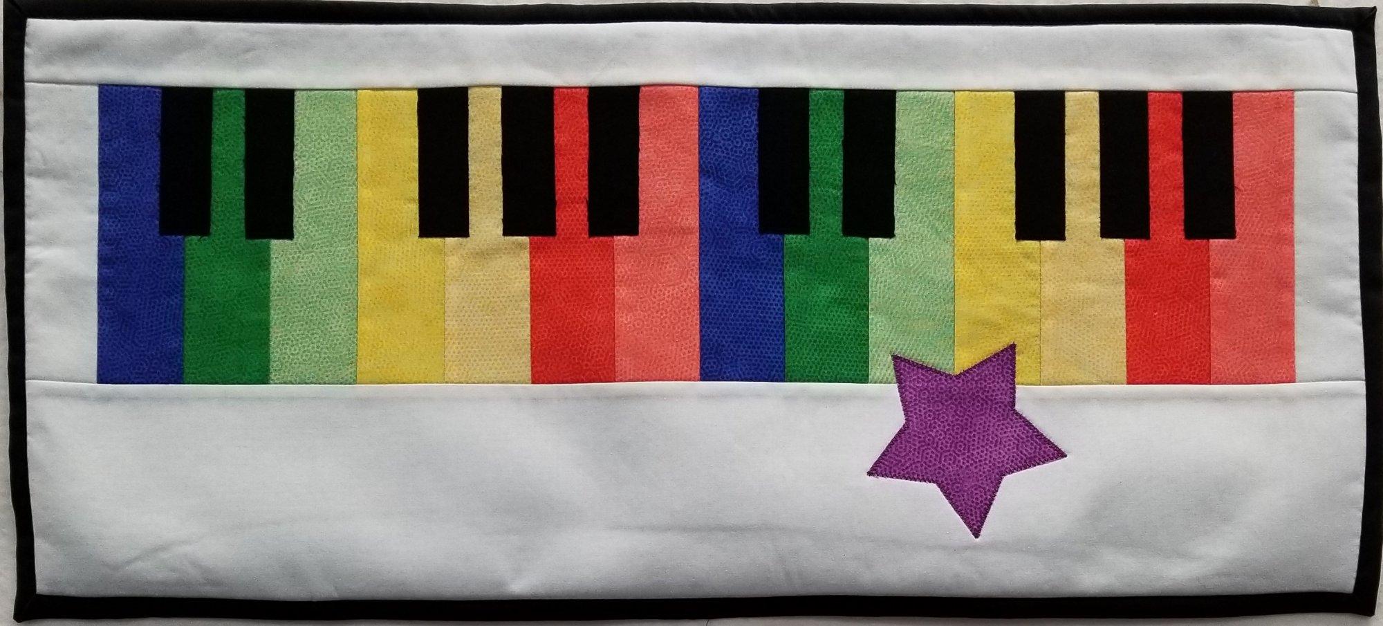 2018 Row by Row JR Piano Keys*