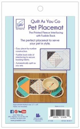 Pet Placemat Dog Bone Quilt As You Go