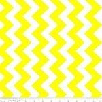 Laminated Cotton Med. Chevron - Neon Yellow