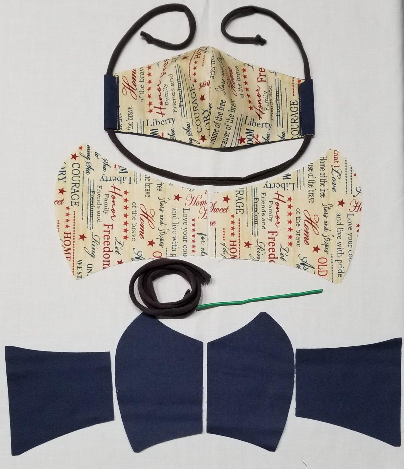 Olson Style Pre-Cut Mask Kit - Makes 2