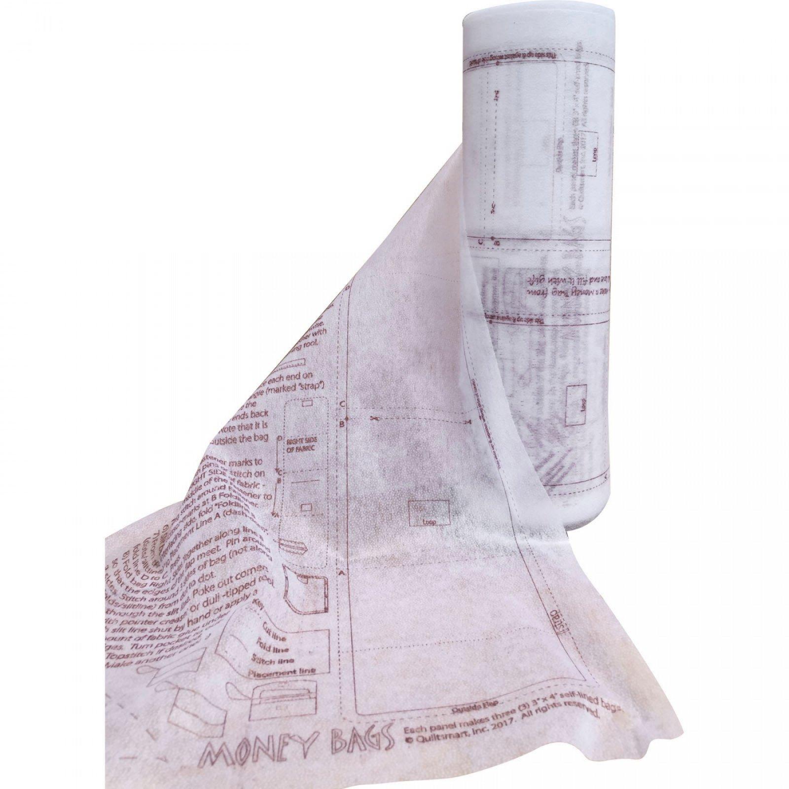 Money Bags Printed Interfacing Panels