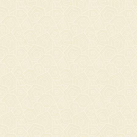 White On Ecru Geo*